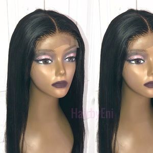 "100% Brazilian human hair 24"" 4x4 lace closure wig"